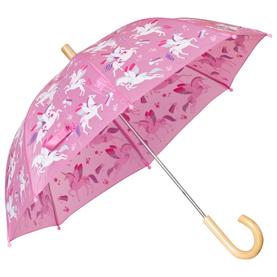 Hatley Pink Unicorn Print Umbrella Pink