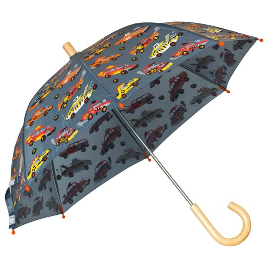 Hatley Grey Car Print Umbrella Black