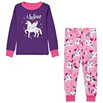 Hatley Purple Unicorn Print Pyjamas Purple