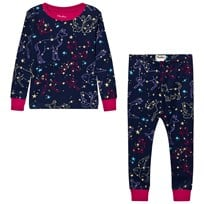 Hatley Navy Animal Stars Print Pyjamas Navy
