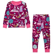 Hatley Purple Tea Party Print Pyjamas Cerise
