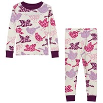 Hatley Cream Birds Print Pyjamas Cream