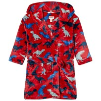 Hatley Unisex Dinosaur Print Bathrobe Red