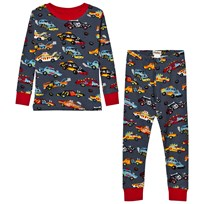 Hatley Grey Cars Print Pyjamas Black
