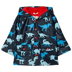 Hatley Dino Print Raincoat Navy