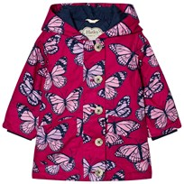 Hatley Butterfly Print Raincoat Pink Pink