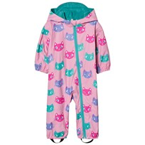 Hatley Cat Print Rain Coverall Pink Pink