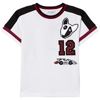 Dolce & Gabbana White Motor Sports Applique Tee W0800