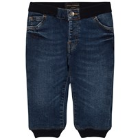 Dolce & Gabbana Blue Mid Wash Pull Up Jeans B5226