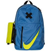 NIKE Blue Elemental Backpack STAR BLUE/BLACK/BRIGHT CACTUS