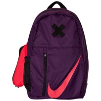 NIKE Purple Elemental Backpack NIGHT PURPLE/BLACK/SIREN RED