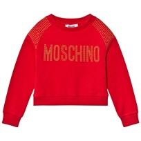 Moschino Kid-Teen Red Studded Logo Sweatshirt 50109