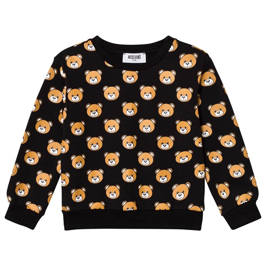 Moschino Kid-Teen All Over Bear Print Tröja Svart 83185