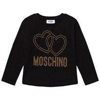 Moschino Kid-Teen Black Studded Logo Tee 60100