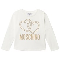 Moschino Kid-Teen Cream Studded Logo Tee 10063