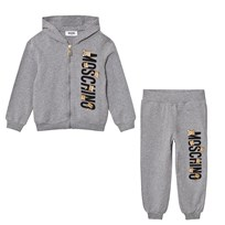 Moschino Kid-Teen Grey Bear Logo Tracksuit 60901