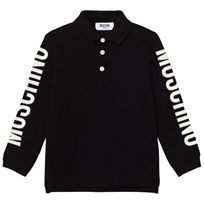 Moschino Kid-Teen Black Branded Sleeve Polo 60100