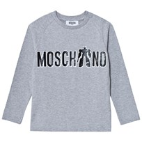 Moschino Kid-Teen Grey Transformer Branded Print Tee 60901