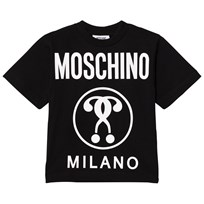 Moschino Kid-Teen Black Glow In Dark Branded Milano Print Tee 60100