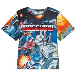 Moschino Kid-Teen Blue Transformers Branded Tee
