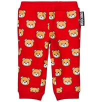 Moschino Kid-Teen Red All Over Bear Print Sweatpants 82147