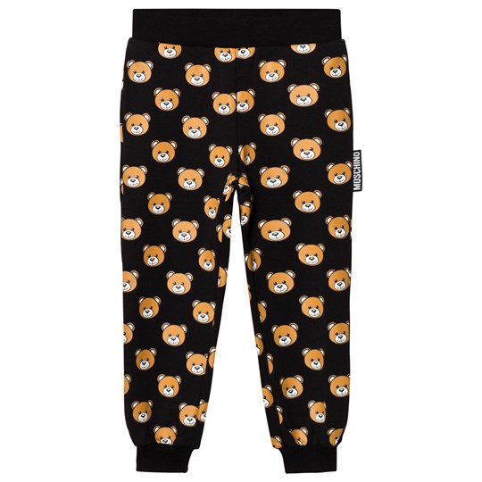 Moschino Kid-Teen Black All Over Bear Print Sweatpants 83185