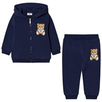 Moschino Kid-Teen Navy Bear Logo Tracksuit 40016