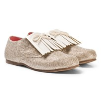 Billieblush Glitter Fringed Shoes Gold Z98