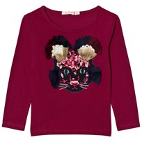 Billieblush Burgundy Mouse Applique Tee 95F