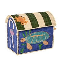 RICE A/S Foldable Toy Basket Turtle Small Turtle