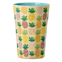 RICE A/S Tall cup Melamine Pineapple Pineapple