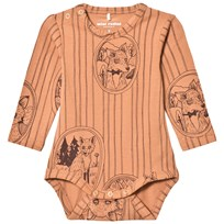 Mini Rodini Fox Family Baby Body Brun BROWN
