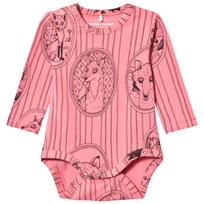 Mini Rodini Fox Family Baby Body Rosa Pink