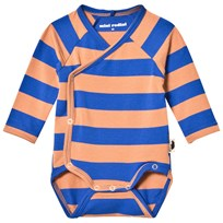 Mini Rodini Blockstripe Omlott Baby Body Blå Blue