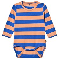 Mini Rodini Blockstripe Baby Body Blå Blue