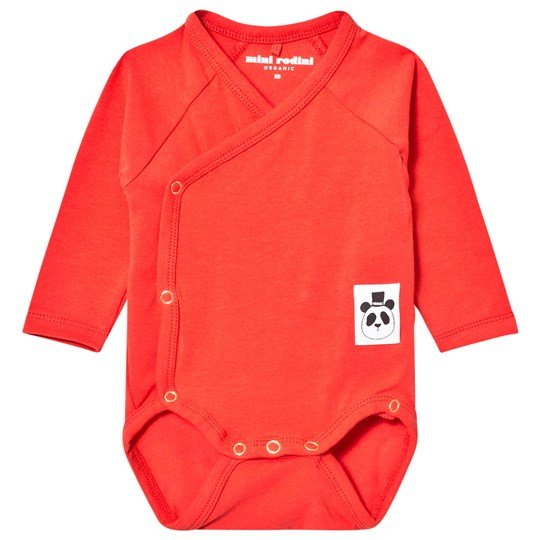 Mini Rodini Basic Omlott Baby Body Röd Red