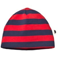 Mini Rodini Blockstripe Beanie Red Red