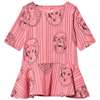 Mini Rodini Fox Family Dress Pink Pink
