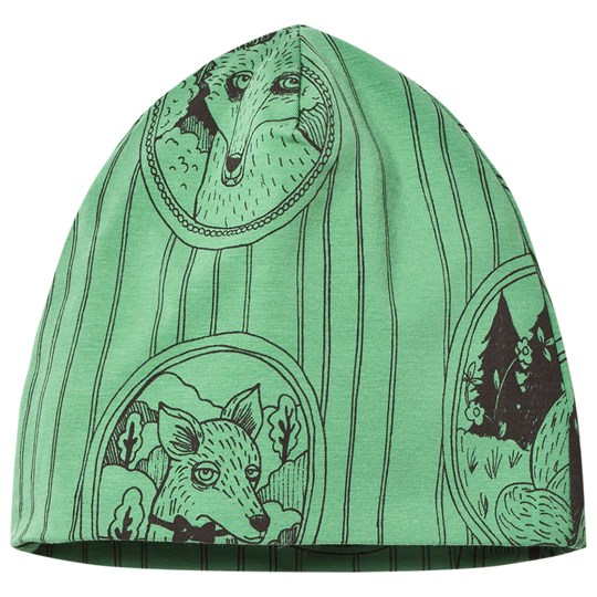 Mini Rodini Fox Family Beanie Green Green