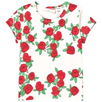 Mini Rodini Rose T-shirt Off White White