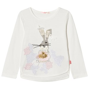 Image of Billieblush White Beaded Bunny Tee 12 years (2743718233)