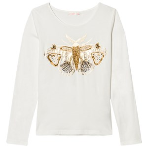 Image of Billieblush Ivory Beaded Moth Tee 2 years (2743718251)