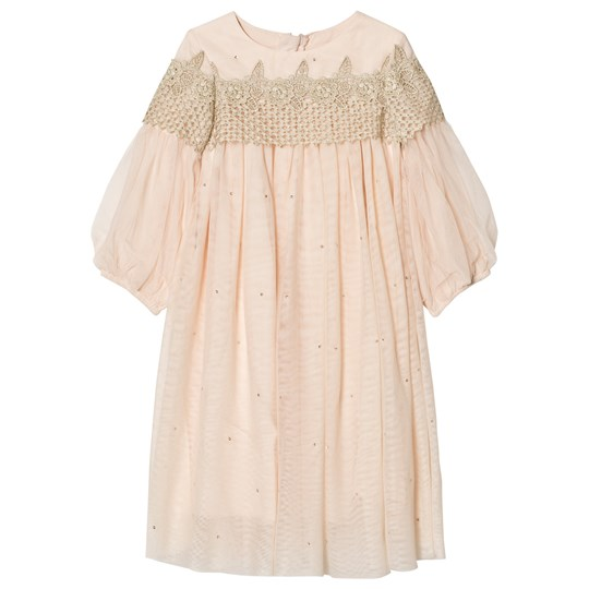 Billieblush Pink Embellished Tulle Dress 450