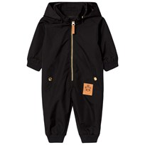 Mini Rodini Pico Baby Coverall Black Black