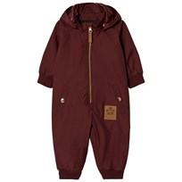 Mini Rodini Pico Baby Overall Burgundy Red
