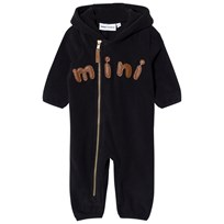 Mini Rodini Fleece Onesie Black Black