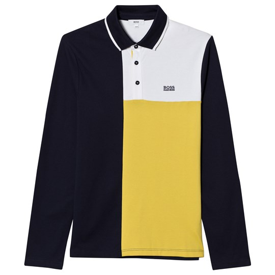 BOSS Yellow Paneled Polo 849