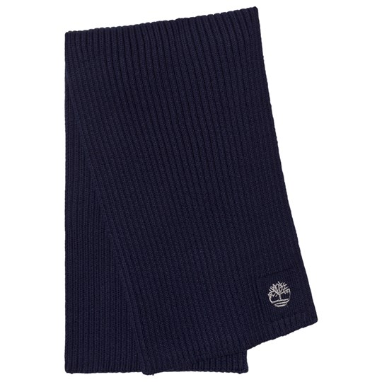 Timberland Navy Branded Knit Scarf 85T