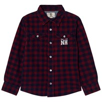 Timberland Red and Navy Check Shirt 986