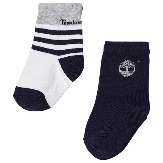 Timberland Navy and Grey Socks (2 Pack) 85T